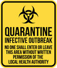 ZOMBIE QUARANTINE OUTBREAK VINYL DECAL STICKER HALLOWEEN WALL LAPTOP WINDOW PC