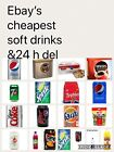 CRATES OF 24 330ml CANS OF SOFT DRINKS COCA COLA PEPSI FANTA TANGO 7UP DIET ZERO £16.95  on eBay