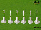 "Rubber Golf Tees 6 Pack With 6 Pcs Castle Tee Driving Range Practice Mat 1.5"" 2"""