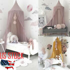 US STOCK  Baby White Mosquito Net Netting Canopy for Nursery Crib Bed Cot Canopy image