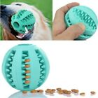 Puppy Pet Dog Durable Rubber Ball Chew Teething Dental Healthy Treat Clean Toy