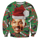 FRESH PRINCE OF BEL AIR XMAS CHRISTMAS SWEATER WILL SMITH SWEATER 2018 FESTIVE