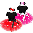 Girls Baby Toddler Minnie Mouse Party Costume Tutu Dress Skirt + Headband Set US