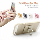 Black Finger Ring Phone Sticky Mount Stand Holder For Samsung Glaaxy S6 S7 S8