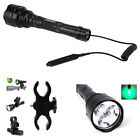 Tactical Q5 Green LED Flashligh w/ Pressure Switch + Dual Holes Mount Holder