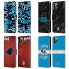 OFFICIAL NFL 2018/19 CAROLINA PANTHERS LEATHER BOOK CASE FOR APPLE iPHONE PHONES
