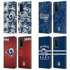 OFFICIAL NFL 2018/19 LOS ANGELES RAMS LEATHER BOOK WALLET CASE FOR HUAWEI PHONES