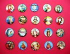 12 Different Glass Domed 3-D Christian Religious Jesus Mary 25mm Round CAMEOS