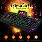 Ajazz RGB LED Wired Mechanical Gaming Keyboard 114 Key Multimedia Button Y8I9