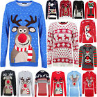 NEW UNISEX MEN WOMEN XMAS CHRISTMAS NOVELTY KNITTED RETRO JUMPER SWEATER