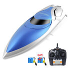RC Boat Pool Toys for Kid Remote Control Fast Racing Model Battery+Capsize Reset