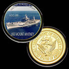 U.S. United States Navy | USS Mount Whitney LCC-20 | Gold Plated Challenge Coin