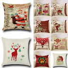 Christmas Xmas Cushion Cover Throw Pillow Case Home Decor Festive Gift image