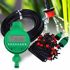 Auto 25M Drip Watering Gravity Fed Irrigation Plants Greenhouse System Water Kit