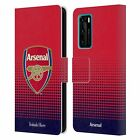 CUSTOMISED ARSENAL FC PERSONALISED GRAPHICS LEATHER BOOK CASE FOR HUAWEI PHONES