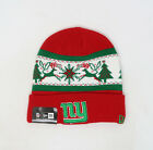 NEW ERA NFL New York Giants Christmas Holiday Red Green Cuff Knit Cap Beanie Hat $20.0 USD on eBay