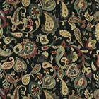 Essentials Cityscapes Black Navy Red Lime Yellow Floral Paisley Upholstery Drape