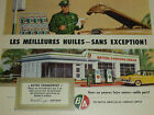 BA BRITISH AMERICAN 1950s GAS POMP GARAGE OIL AD SMALL MAGAZINE FRENCH VINTAGE