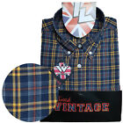 Warrior UK England Button Down Shirt BILLY HUNT Slim-Fit Skinhead Mod Retro