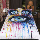 Single Double Twin Full Queen King Bed Set Pillowcase Quilt Cover RAUt Eye Tear