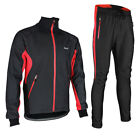 ARSUXEO Thermal Cycling Jacket Sets Winter Warm Bicycle Clothes Windproof