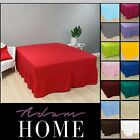 Plain Poly Cotton Extra Deep Fitted Sheets Frilled Valance Sheet In All Sizes image