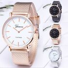Luxury New Geneva Women Watch Stainless Steel Band Quartz Analog Wrist Watches image
