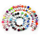 Lot Of 50 Mix Color Stainless Acrylic Ball Barbell Bar Navel Belly Butto KIE