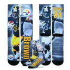 * Antonio Brown Pittsurgh Steelers NFL Drive Player Profile Socks (Large 10-13)