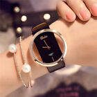 Elegant Girl  Women's Classic Casual Quartz Watch LeatherStrap Wrist Watches New image