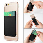 Elastic For All Phone Wallet Credit ID Card Holder Adhesive Pocket Sticker Lycra