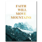 Mountain Landscape Canvas Poster Motivational Quote Picture Print Wall Art Decor