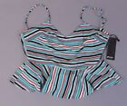 Nasty Gal Women's Contrast Stripe Cowl Cami Top SV3 Green Size US:4 NWT