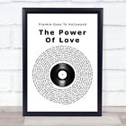 The Power Of Love Vinyl Record Song Lyric Quote Print