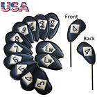 Golf Iron Head Cover Set 12 Pcs Universal Iron Covers Embroidery Numbers Beauty