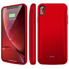For iPhone XS Max/XR/X Battery Charger Case External Power Bank Charging Cover