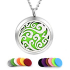abooxiu 316 Stianless Steel Aromatherapy Essential Locket Oil Diffuser Necklace