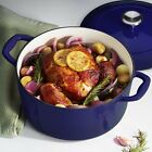 Tramontina Enameled Cast Iron Covered Round Dutch Oven Gradated Cobalt Cookware