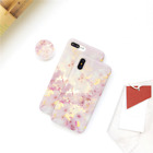 Pop Up Air Bag Grip Stand Pink Gold Marble Case for iPhone 6s 7 8 Plus X Max
