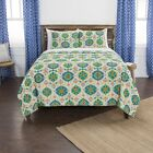 Maddux Place Green Hand Quilted Cotton Reversible 3-Piece Quilt Set image