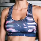 Women's Sports Bra Shockproof Padded Push Up Yoga Bra Print Fitness Top Clothing