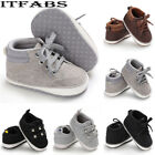 US Newborn Baby Kids Girl Boys Cute Cotton First Walkers Lace-Up Sneakers Shoes