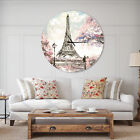 East Urban Home Designart Eiffel with Flowers French Country Wall Clock