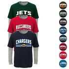 """NFL Outerstuff  """"Bleachers"""" Long Sleeve Faux Layer T-Shirt Toddler Boys Youth SZ $9.99 USD on eBay"""
