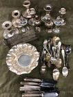 Sterling silver lot for scrap or not; weighted pieces and 645g of solid (BL)