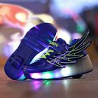 Children Glowing Sneakers Kids Roller Skate Shoes Girls Boys Sneaker with Wheels