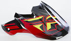 Fly Mx F2 CARBON SHORTY HELMET VISOR (BLACK/RED/LIME)