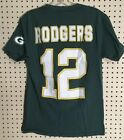 NFL Green Bay Packers #12 Aaron Rogers T-Shirt Size Small Vintage