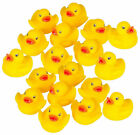60 Pcs Mini Yellow Bath Baby Toys Duck Rubber Squeaky Kids Water Floating Play