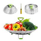 Steamers for Cooking Stainless Steel Vegetable Basket, Folding Steamer...